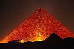 Pyramid at Night